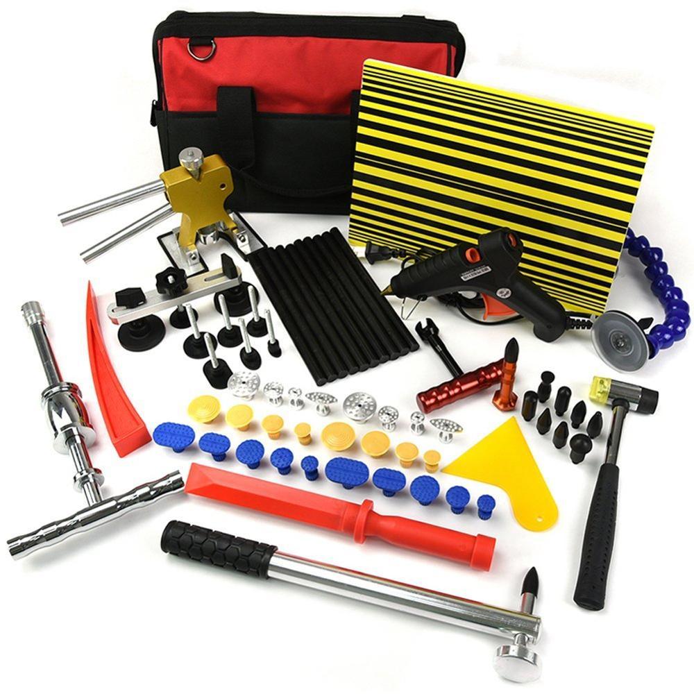 Paintless Dent Repair Tools Kit Glue Dent Puller Kit Dent Remover Kit Slide Hammer PDR Hail Repair Tool Car Dent Puller Tool