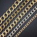 DIY ювелирных материалов для изготовления золото серебро черный Флэш цепи Открыть Ссылку Утюг Металлические Выводы Цепи 100 см