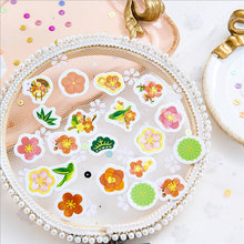 100 pcs/lot Cute Cherry blossoms mini Sealing Stickers Diary Label DIY decoration sticker stationery
