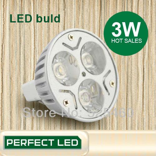Cool Blue Light Bulbs: 6PCS/LOT 12V MR16 3W Free shipping Epistar Chip Warm White/Cool White Red,Lighting