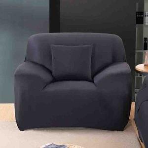 Image 2 - โมเดิร์นแฟชั่นสีบริสุทธิ์ยืดหยุ่นสำหรับห้องนั่งเล่นโซฟายืดโซฟาเบาะโซฟาล้างทำความสะอาด Slipcover