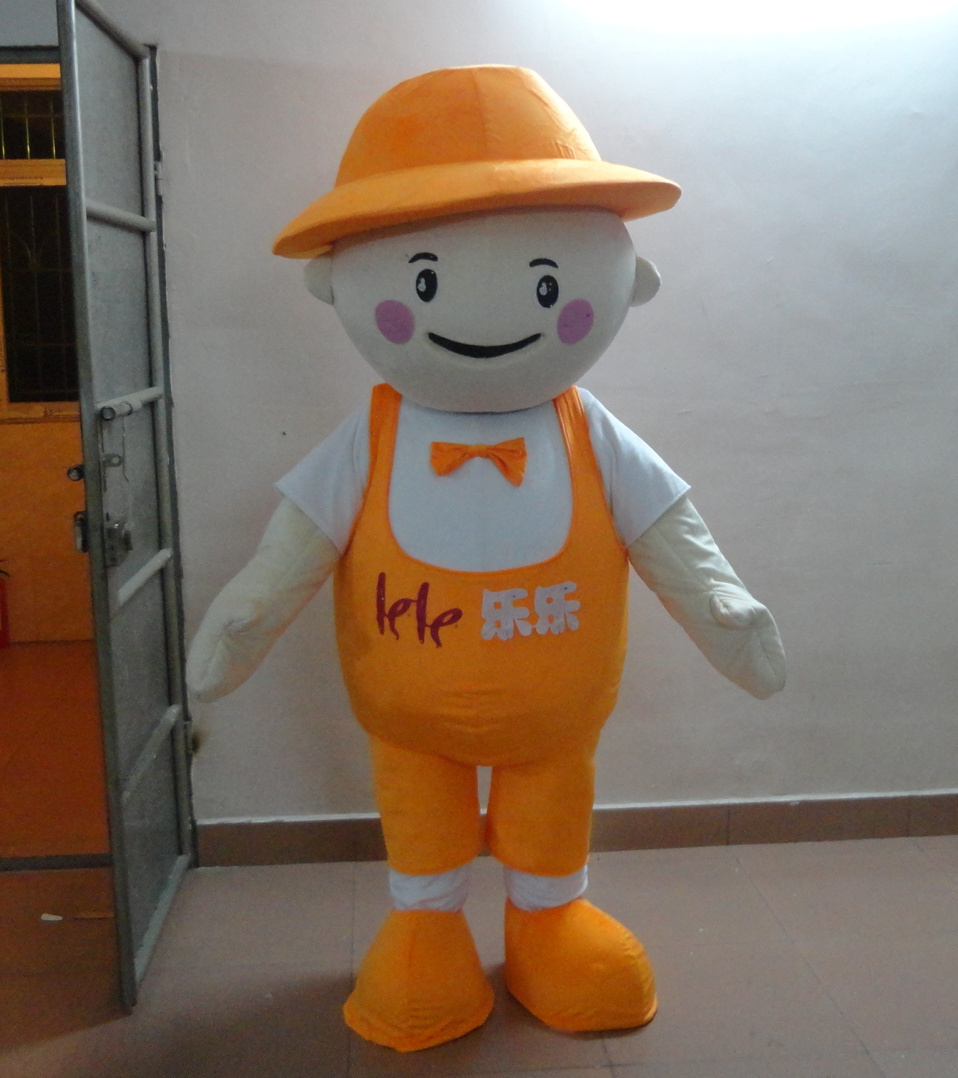 Personnage adulte mignon orange poupée mascotte Costume fantaisie robe Halloween fête costume pour Halloween fête
