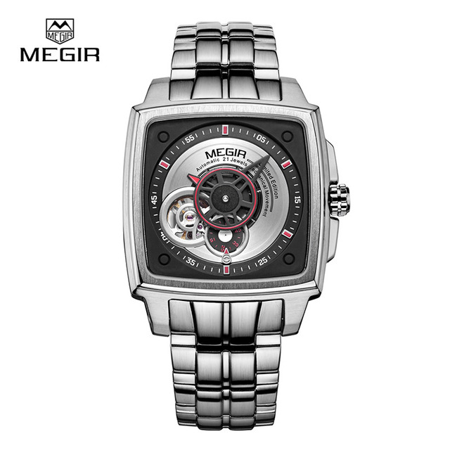 Megir new hand wind mechanical wrist watch man fashion waterproof business brand watches men hot men's hour clock male 62042-2