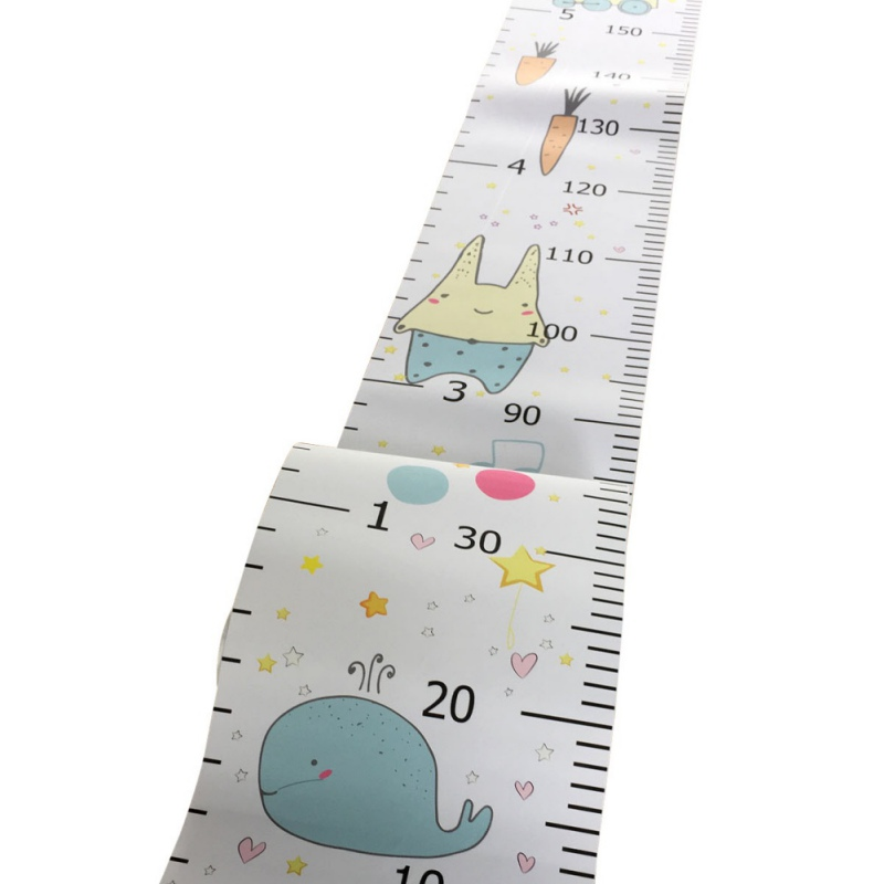 Hanging Canvas Height Measurement Ruler Kids Growth Chart Wall Decor Ruler For Baby Nursery Decoration(China)