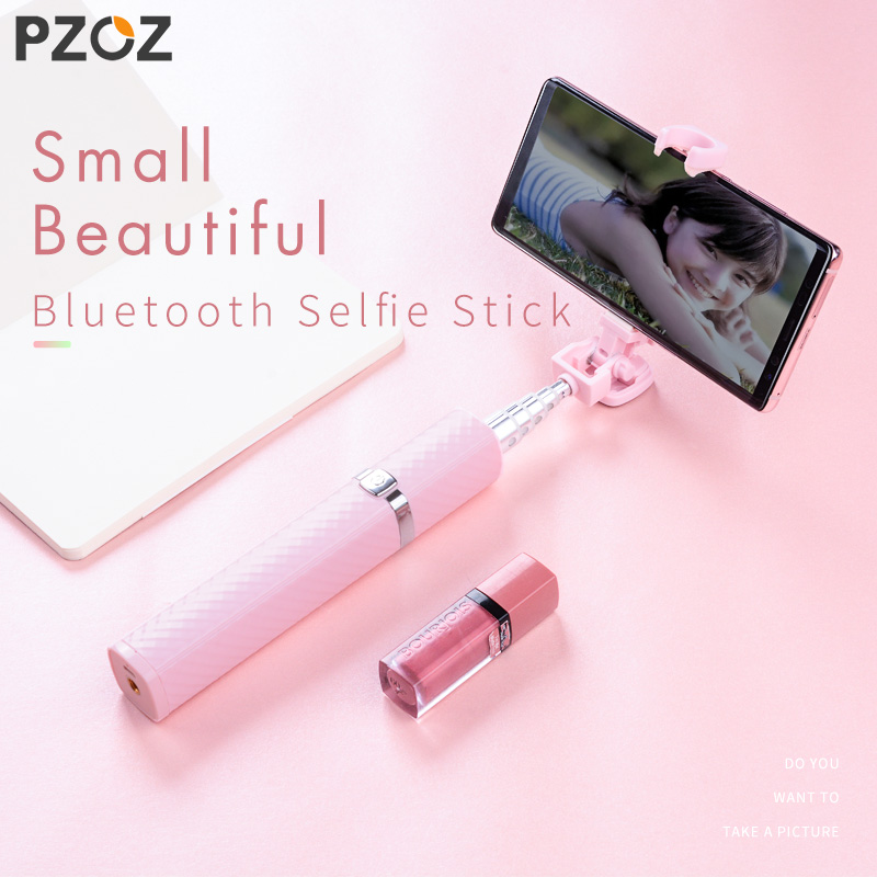 PZOZ Bluetooth Selfie Stick para iPhone X 8 para Samsung Huawei Xiaomi teléfono móvil Monopod Universal Mini Selfie Sticks inalámbricos