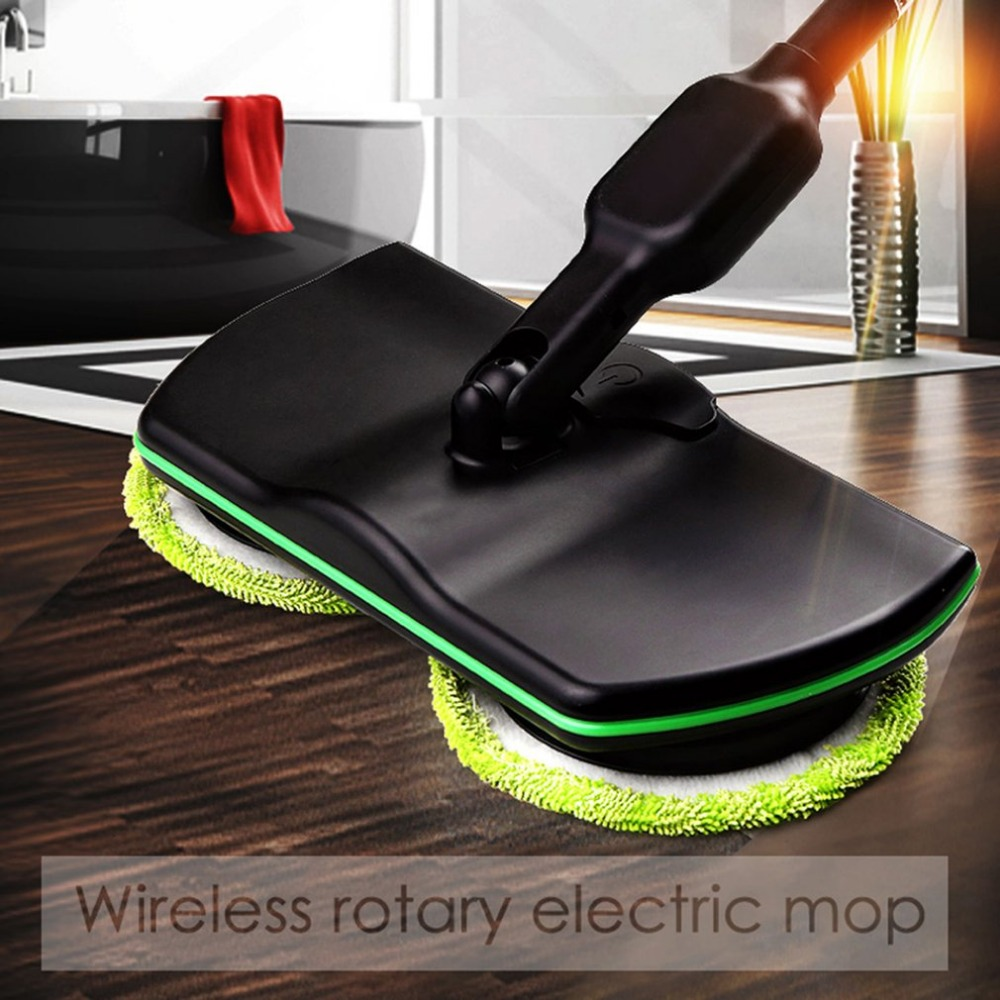 Rechargeable 360' Rotation Cordless Floor Cleaner Scrubber Polisher Electric Rotary Mop Microfiber Cleaning Mop For Home