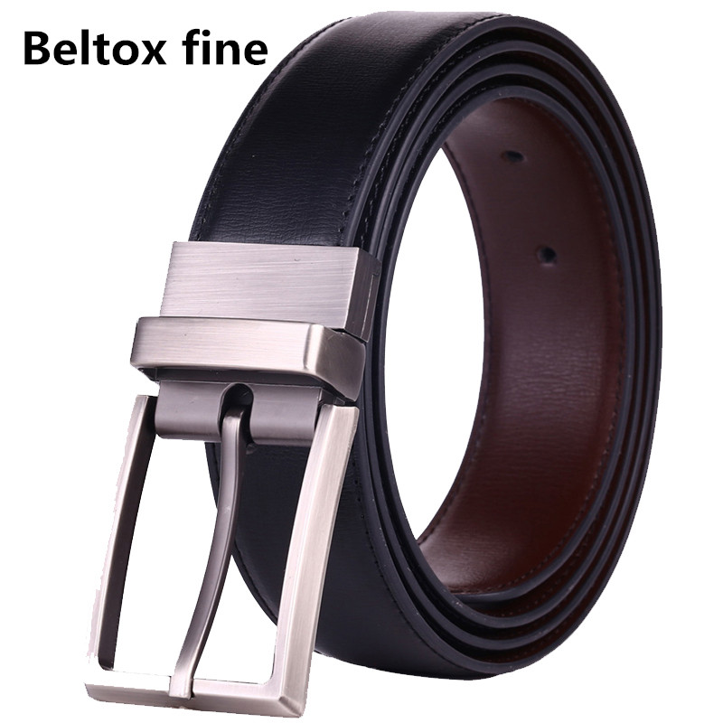 Men's   Belts   Genuine Leather Dress Reversible   Belt   with Rotated Buckle Two   Belt   in One size 26-54 Inch Waist Strap