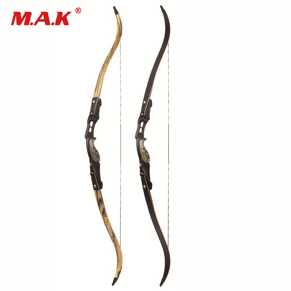 30-60 lbs American Recurve Bow 2 Color 60 Inches in IBO 190FPS with 17 inches Riser for Archery Bow Hunting Shooting
