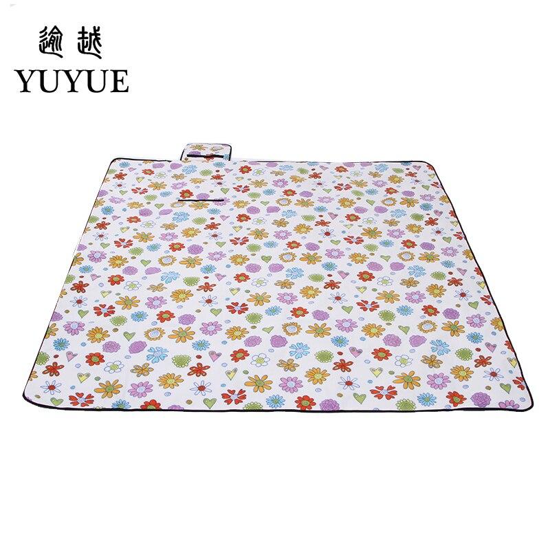 200*200cm waterproof picnic mat for colchoneta  picnic camping fishing suefe surface tourist tent aluminum picnic mat blanket  3