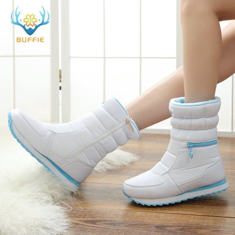 Sepatu bot musim dingin putih, Fashion wanita sepatu salju, Gaya baru - Sepatu Wanita - Foto 5
