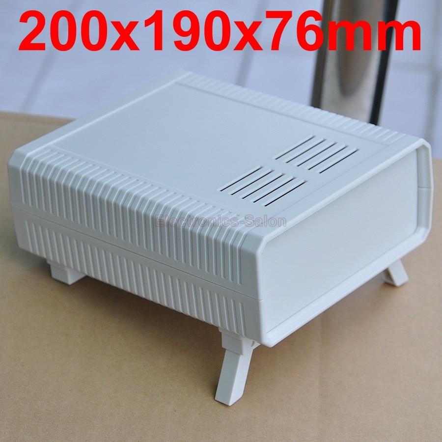 HQ Instrumentation ABS Project Enclosure Box Case,White, 200x190x76mm.
