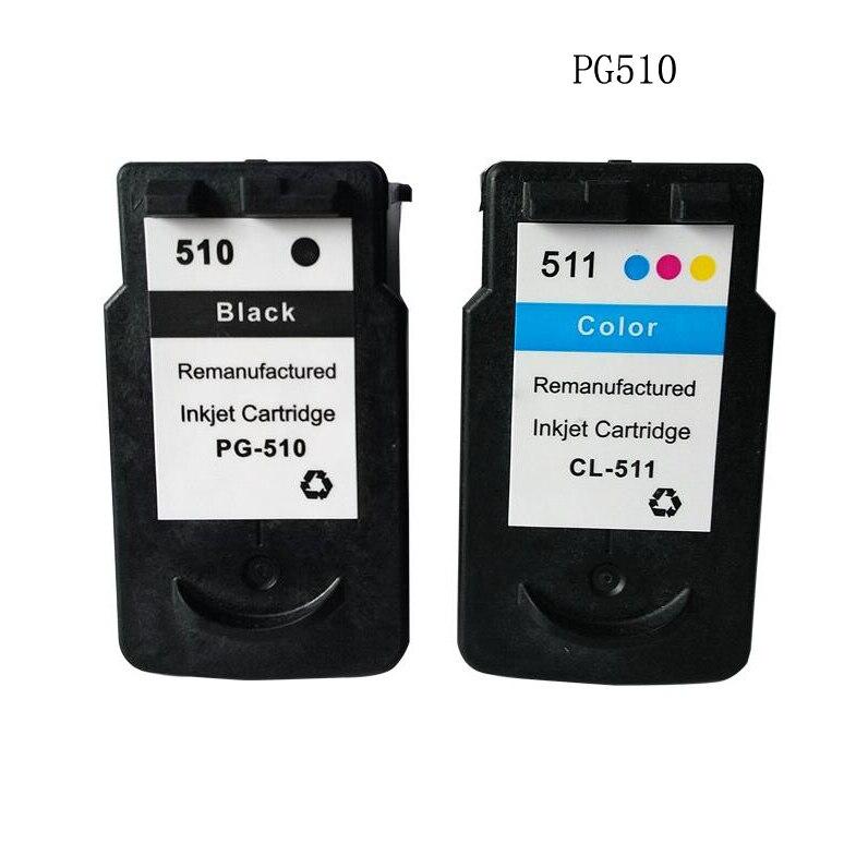 Prix pour Compatible pg-510 cl-511 cartouche d'encre pour canon pg512 cl513 pixma ip2700 mp230 mp250 mp280 mp495 mp490 mp492 ip2702 mx320 mx330