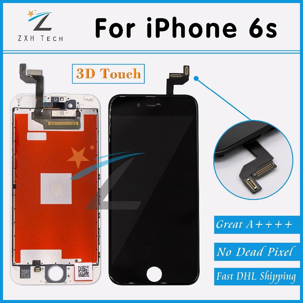 Prix pour 10 PCS/LOT Blanc et Noir 3D Écran Tactile de Remplacement Écran Tactile Digitizer Assemblée pour iPhone 6 s AAA LCD DHL Livraison Gratuite
