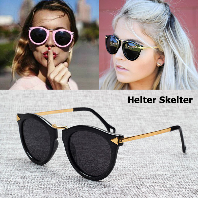 JackJad Fashion POLARIZED Helter Skelter Arrowed Sunglasses Women բրենդային դիզայն Vintage Round Sun բաժակներ Oculos De Sol Feminino