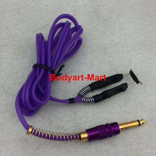 One Purple Silicone Tattoo Clip Cord For Tattoo Power Kit Set Supply TCC09-F# цены онлайн
