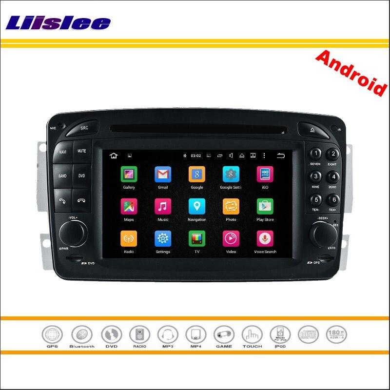 Liislee voiture Android multimédia pour Mercedes Benz G W463/CLK C209 W209 1998 ~ 2004 Radio lecteur CD DVD GPS Navi système de Navigation