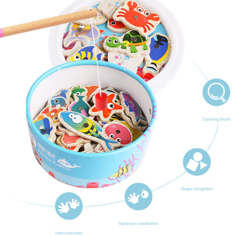 18Pcs Funny Bath Toys For Kids Fishing Magnetic Water Floating Fishing Game Toy