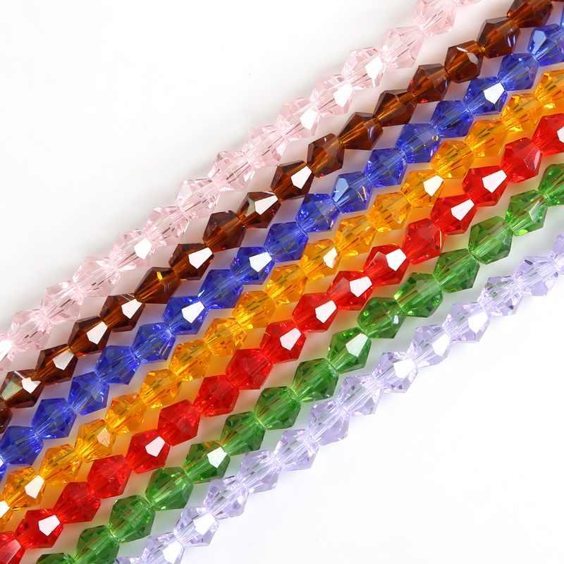 3/4/6mm Mix kryształ kolorów czeskie szklana przekładka luźne koraliki do tworzenia biżuterii hurtowych koraliki naszyjnik diy bransoletka 50-150 szt
