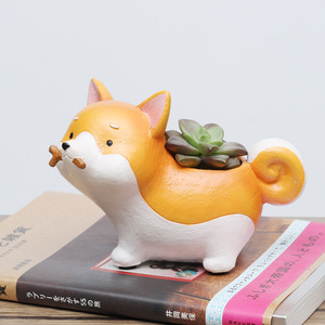 Image 4 - Succulent Plant Pot Creative Animal Cartoon Flowerpot Bonsai Cactus Flower Pot Office Desktop Home Decoration Birthday Gifts