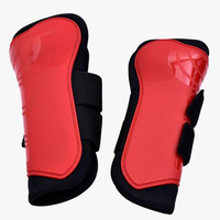 2PCS Soft PU Leather Horse Riding Equestrian Equipment Horse Legging Protector Horse Riding Equipment Accesories Horse