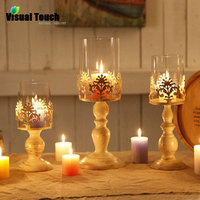 Visual Touch European Candle Holder Stand TeaLight Holder Lantern Home Wedding Decoration Party Birthday Retro Vintage