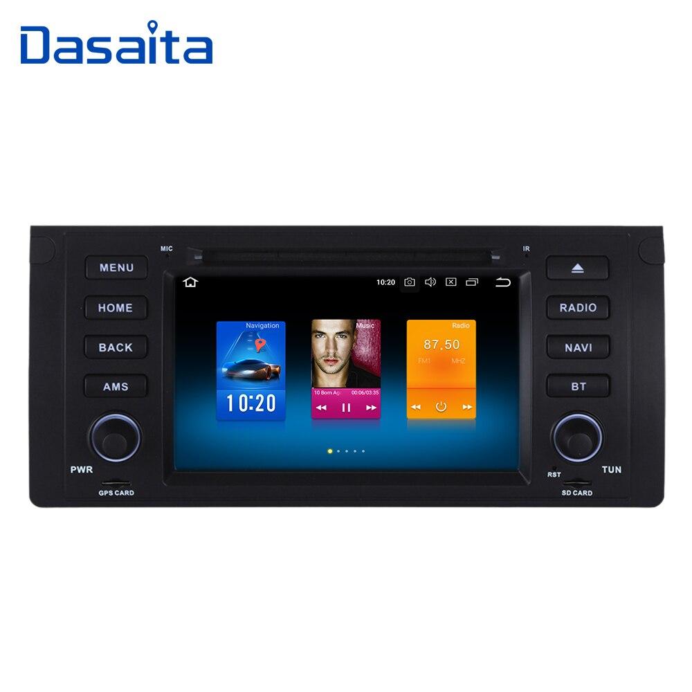 Dasaiata 7 1 din Android 8.0 Voiture Multimédia pour BMW E39 E53 X5 Radio 2001 2002 2003 avec la Voiture lecteur DVD GPS Navi