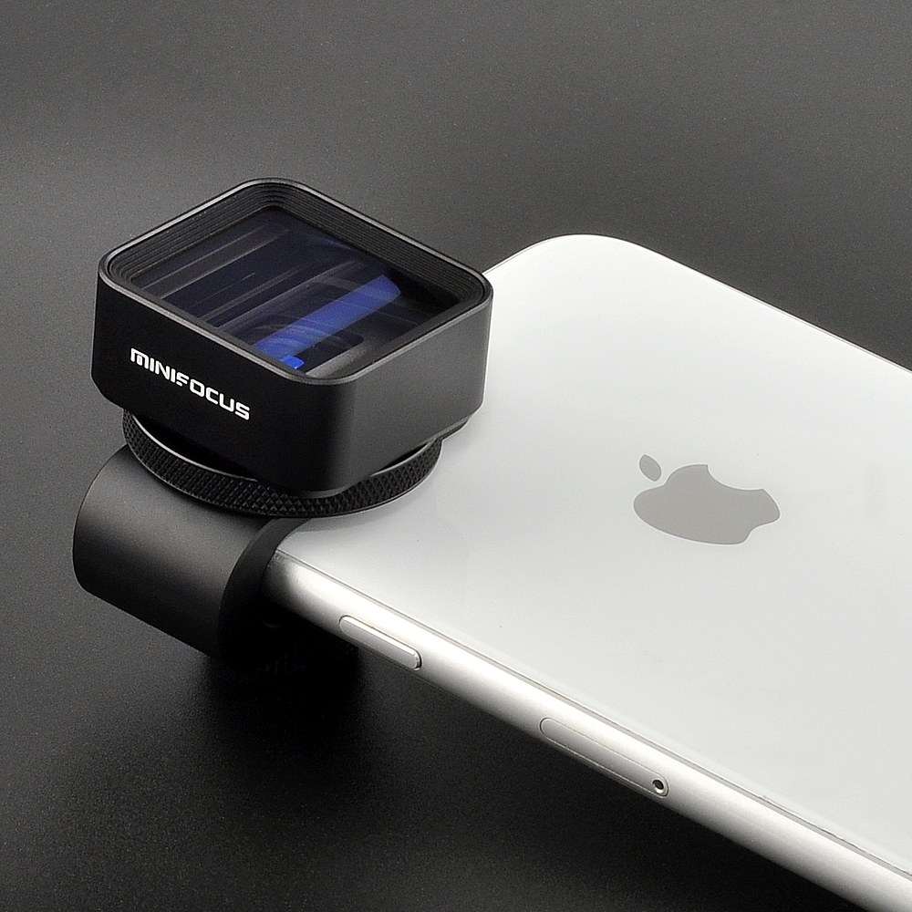 1.33X Anamorphic Lens Deformation Fimmaking Mobile Phone Lens Widescreen Movie Wide-Angle Camera Lens for iPhone Samsung Phones