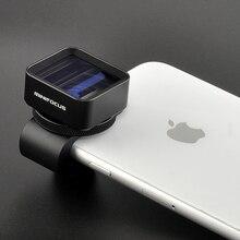 1.3x lente anamórfica deformación Fimmaking lente de teléfono móvil pantalla ancha película lente de cámara gran angular para teléfonos iPhone Samsung