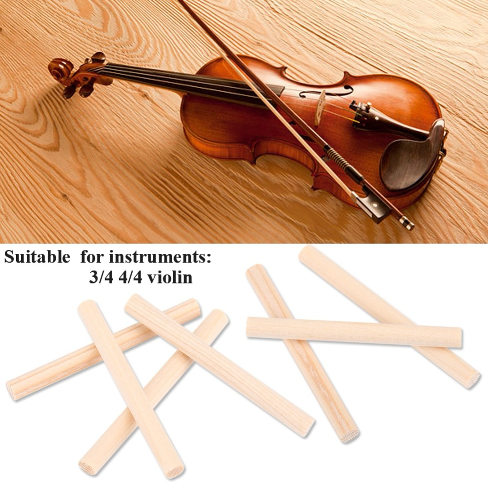 10Pcs Durable Spruce Violin Column Sound Post Parts Accessories For 3/4 4/4 Violins