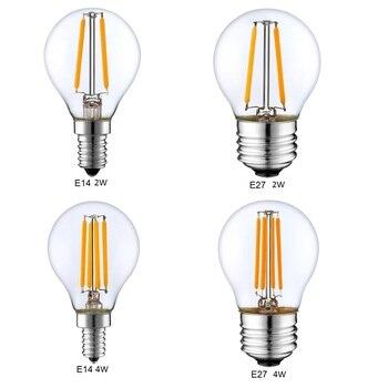 Retro Filamento LEVOU Luz Dimmable E14 G45 E27 A60 Lâmpada Globo 1 W 2 W 4 W 8 W 10 W Ampola Edison Vintage Lâmpada 220 V interior iluminação