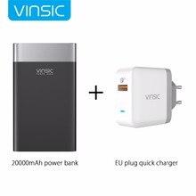 Vinsic Terminator P3 20000 mAh Charge Rapide 3.0 Puissance Banque QC3.0 2.4A double Sortie avec Type C Port Pour iPhone 8 Samsung Xiaomi