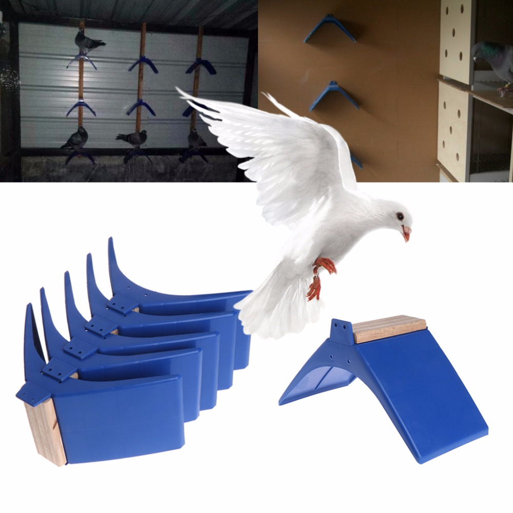 5Pcs/set Pigeon Perch Plastic Heat Resistance Dove Rest Stand Roost Bird Cage Stand Holder Supplies High Quality S/M/L C42
