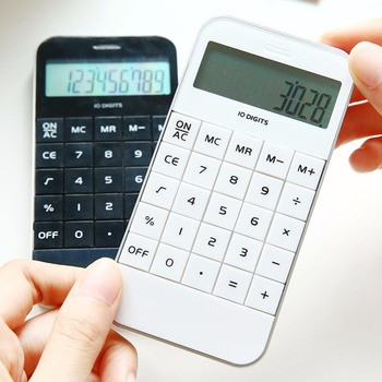 1 Pc/Pack Portable Handheld Pocket Smartphone-Shaped 10-Digital Calculator for School Stationery & Office