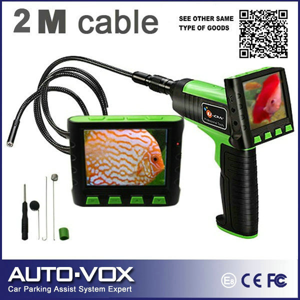 """Wireless/Wired 3.5"""" TFT LCD Waterproof Video Inspection Snake Scope Borescope Endoscope Camera 9mm Diameter Camera + 2M Cable"""