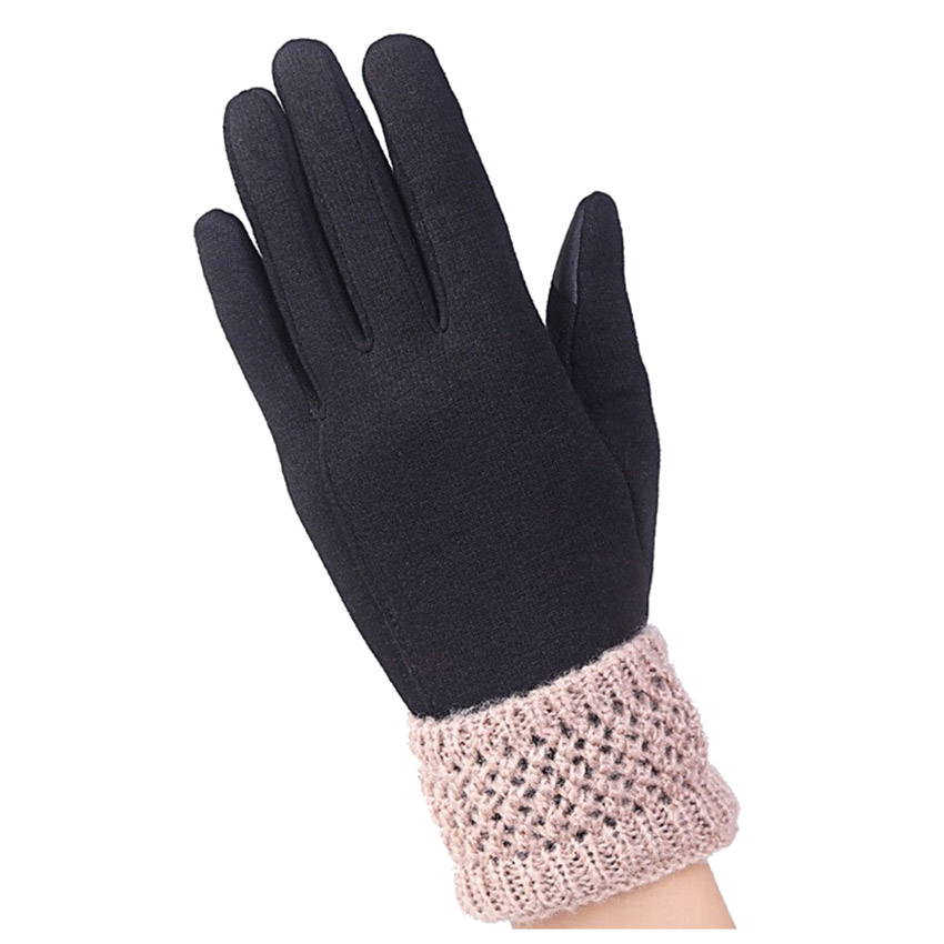 1 PAIR ladies winter gloves simple wrist heating ladies knitted gloves warm fitness sensor sexy screen gloves
