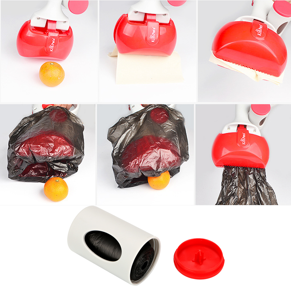 NICEYARD 2 In 1 Pick Up Holder Outdoor Waste Cleaning Tools with 1 Roll Poop Bags Pet Pooper Scooper Pet Accessories 1