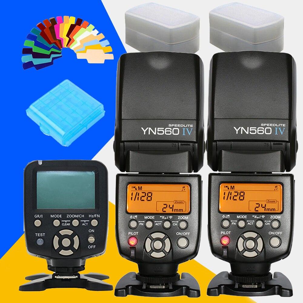2x YONGNUO YN560IV YN560 IV YN560 IV YN 560 IV YN560TX YN 560TX Master Speedlite Flash