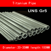 Diameter 20-35mm length 100mm wall 1-3mm Titanium Alloy Pipe UNS Gr5 TC4 BT6 TAP6400 Titanium Ti Round Piping Anti-corrosion