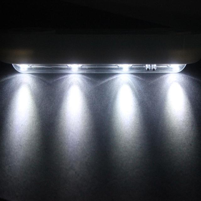 Toque de detección Táctil de Ajuste del Ángulo de Luz Ambiente Lámpara de Luces de La Noche de La Novedad LED Inalámbrico Conveniencia