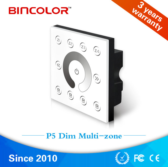 P5 AC 220V 230V Wall mounted led dimmable touch panel, dmx512 4 ...