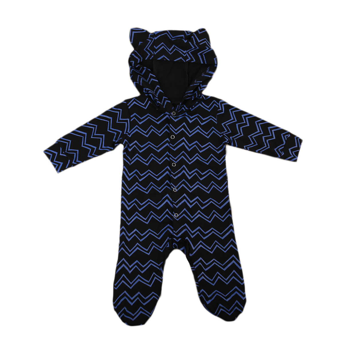 Cute Newborn Infant Baby Boys Ear Hooded Rompers Autumn Cotton Long Sleeve Romper Jumpsuit Outfits Children Clothing