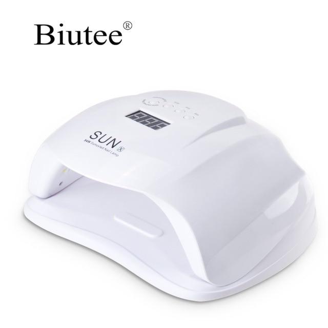 Biutee UV מייבש 50 W שמש uv מנורת עם אדום וbule LED אורות נייל אמנות ג 'ל פולני מניקור כלים