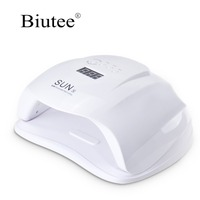 Biutee UV led Nail dryer 50W SUN uv lamp with Red and Bule LED Lights nail art gel polish Manicure Tools