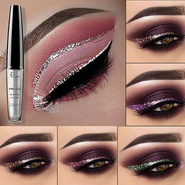 Image result for pink glitter eyeliner