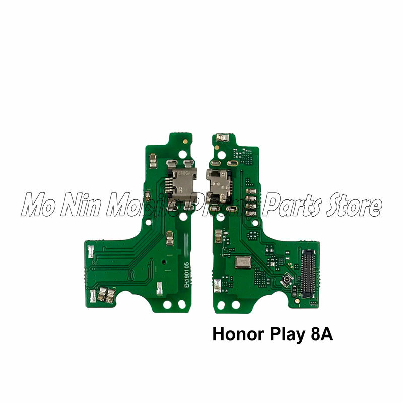 New Microphone Module+USB Charging Port Board Flex Cable Connector Parts For Huawei Honor Play 8A 8C Replacement