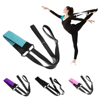 Ballet Yoga Stretching Resistance Band Soft Opening Belt Elastic Pull Up Strap Fitness Pilates Dance Training Equipment Band