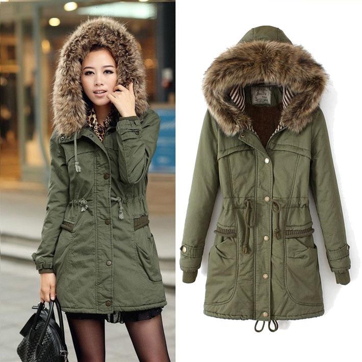2015 parka womens engrosamiento chaqueta capa del algodón