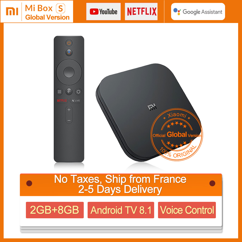 Xiaomi MI Box S Android TV 8 1 Google Certified 2G 8G Xiaomi MI Box S