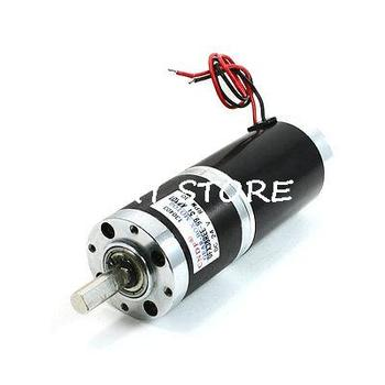 8mm Dia Shaft 2 Terminals Magnetic Electric Geared Motor DC 24V 30RPM