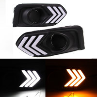 Daytime Running Light DRL For Honda City 2017 White DRL And Yellow Turning Left And Right